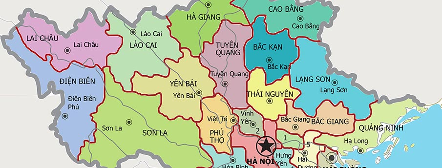 MAPS of Vietnam → North, South, Railway, Airport | Northern Vietnam