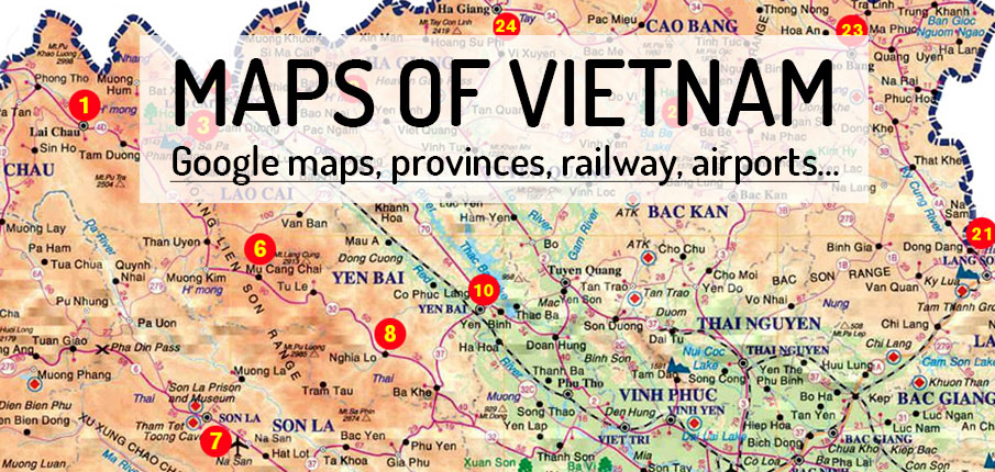 MAPS northern and southern Vietnam sites Northern Vietnam