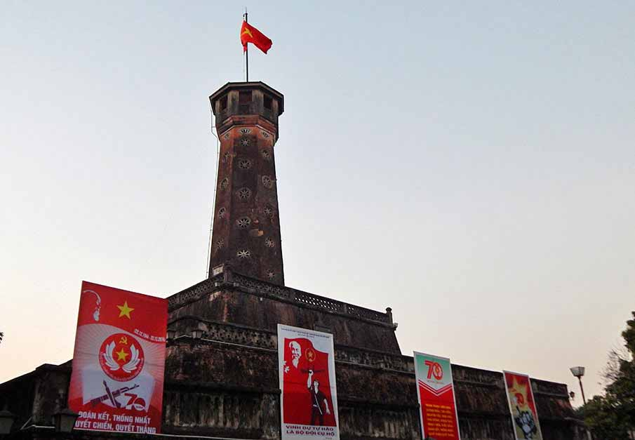 vietnam-flag-hanoi-tower