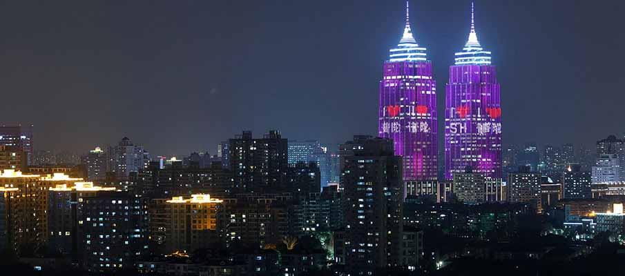 twin-towers-shanghai-china