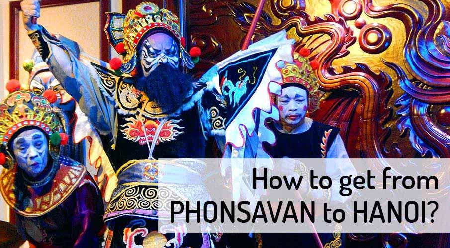 How to get from Phonsavan to Hanoi