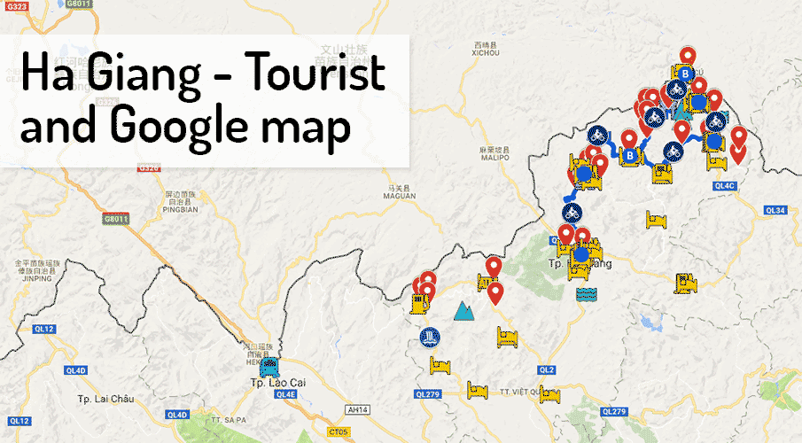 Northern Vietnam Map.Ha Giang Tourist Google Map For Travelers Northern Vietnam
