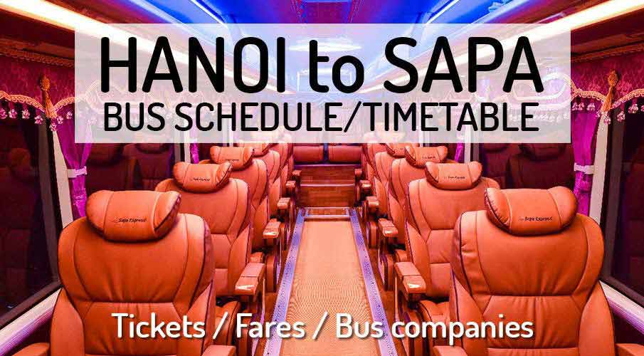Hanoi to Sapa - Bus Schedule + Tickets