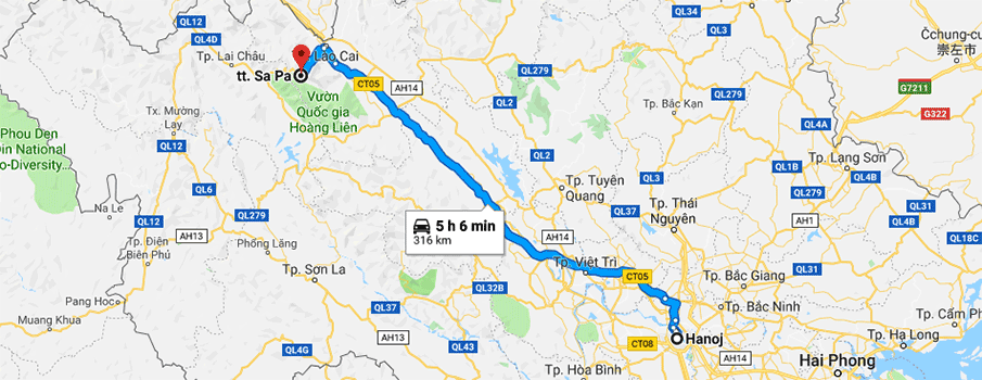 hanoi-sapa-route-map