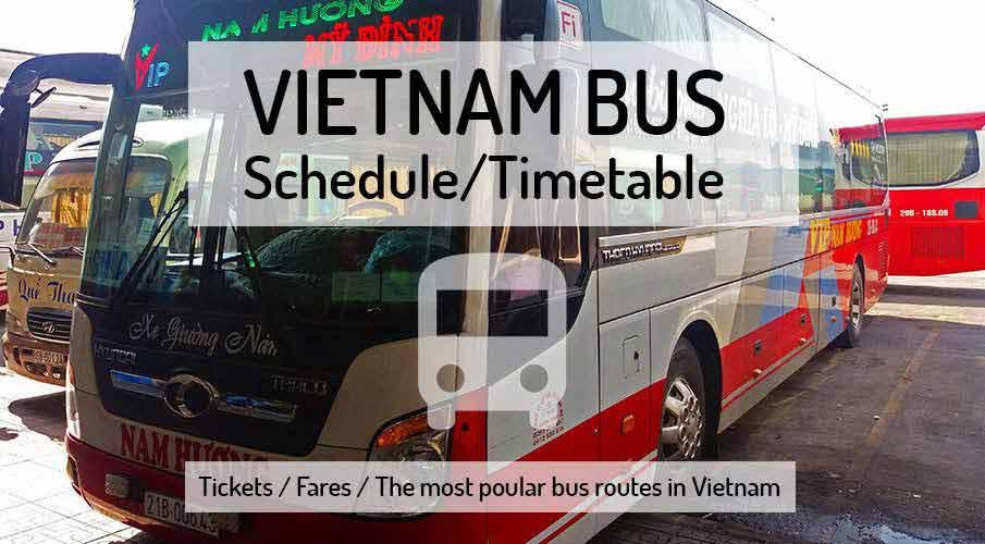 Vietnam Bus Schedule + Timetable + Tickets