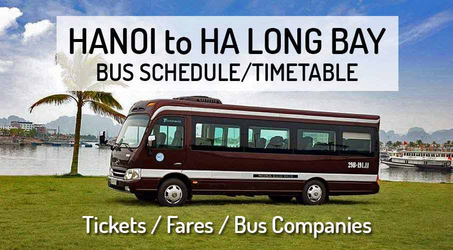 Hanoi to Ha Long Bay - Bus Schedule + Tickets