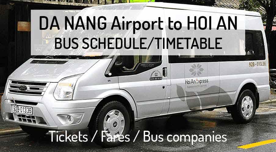 Da Nang Airport to Hoi An - Bus Schedule / Timetable