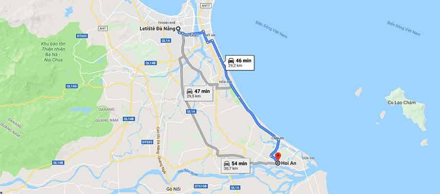 route-map-da-nang-airport-to-hoi-an