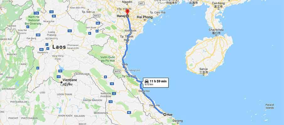 route-map-hue-to-hanoi-vietnam