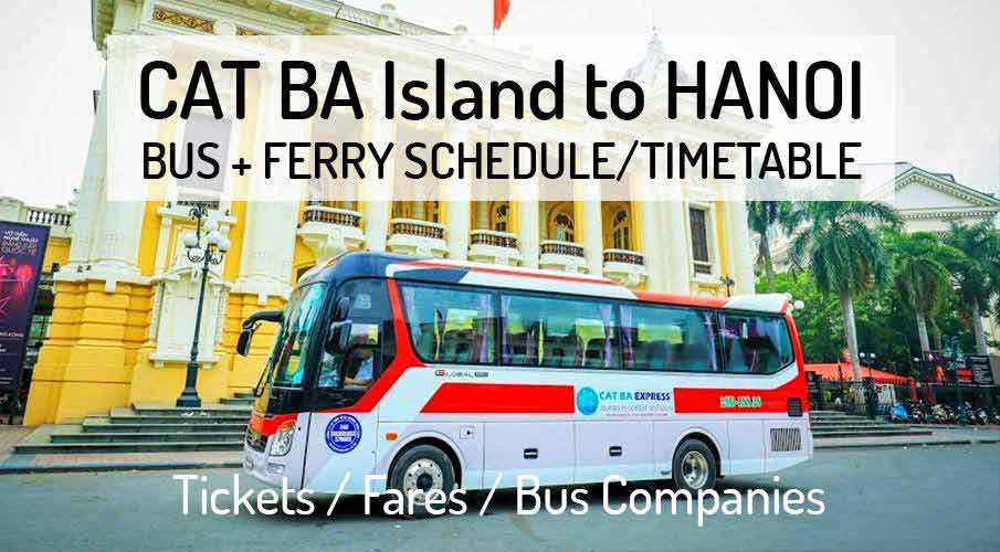 Bus from Cat Ba Island to Hanoi - Bus Schedule
