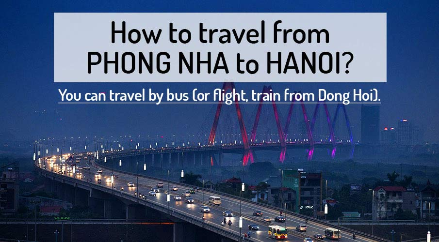 How to get from Phong Nha to Hanoi