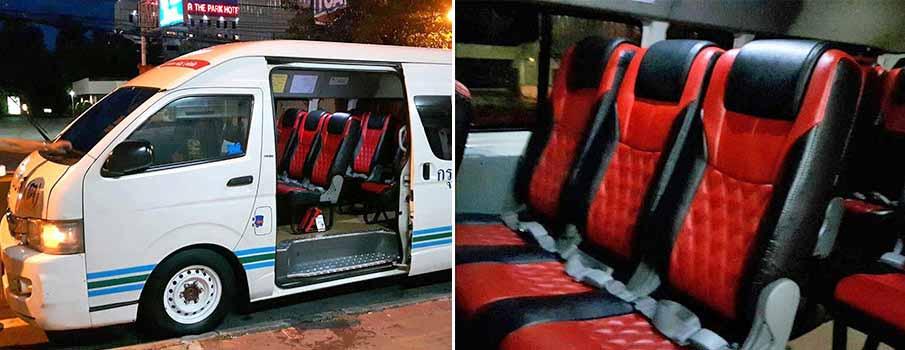 minivan-bus-pattaya-to-hua-hin