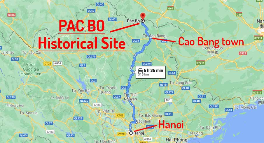 map-route-hanoi-to-pac-bo-cave