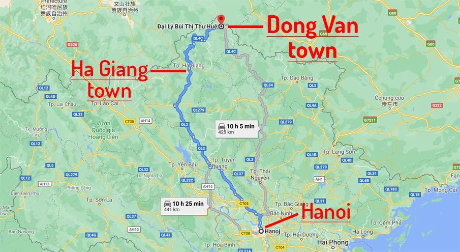 travel-map-hanoi-to-dong-van-vietnam