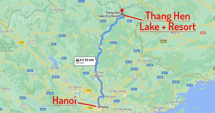 travel-map-hanoi-to-thang-hen-lake-cao-bang