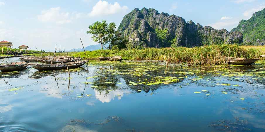 van-long-nature-reserve-boat-wharf-vietnam