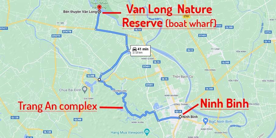 van-long-nature-reserve-travel-route-map